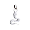 Diamond Snake Charm Pendant Estate 14k White Gold Vintage Fine Jewelry