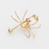 Spider Brooch Pendant Ruby Eyes Cultured Pearl Vintage 14k Yellow Gold Estate