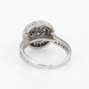 Diamond Cluster Ring Vintage 14k White Gold 1.10 ctw Round Halo Estate Jewelry