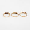 Set of 3 Stacking Rings Vintage Goldstone 10k Yellow Gold Estate Fine Jewelry