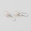 Freshwater Pearl Diamond Drop Earrings Estate 18k White Gold Vintage Jewelry