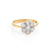 Forget Me Not Antique Victorian Diamond Cluster Ring Vintage 18k Gold Platinum