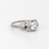 Antique Platinum Diamond Engagement Ring Art Deco 1.24ctw Vintage Fine Jewelry