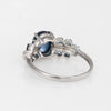 Vintage Sapphire Ring Blue Cabochon 9k White Gold Estate Fine Jewelry Sz 7