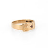 Vintage Buckle Ring Ruby 9k Yellow Gold Estate Jewelry Alternative Wedding Band