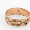 Antique Wedding Ring Victorian 10k Rose Gold Embossed Leaf Pattern Vintage 9.25