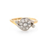 Antique Victorian Diamond Cluster Ring Vintage 18k Gold Platinum Engagement Fine