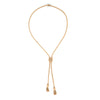 Vintage Slide Necklace Opal Tassel 14k Yellow Gold Adjustable Estate Jewelry