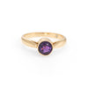 Vinatge Amethyst Ring 14k Yellow Gold Round Stacking Band Estate Jewelry Sz 6.5