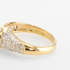 Vintage Diamond Pinky Ring Mixed Cuts 18k Yellow Gold Estate Fine Jewelry Sz 4.5