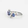 Vintage Cartier Meli Melo Blue Sapphire Diamond Ring Platinum Estate Jewelry 51