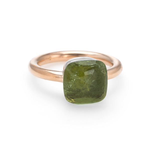 Pomellato Nudo Peridot Ring 18k Yellow Gold Estate Fine Jewelry Sz 6 Jewelry