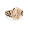Antique Signet Ring 10k Rose Gold Victorian Oval Mount Vintage Fine Jewelry 6.75