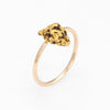 Antique Victorian Nugget Ring 14k 22k Gold Conversion Vintage Fine Jewelry Sz 4