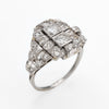 Antique Deco Diamond Ring Platinum Cocktail Vintage Estate Jewelry Sz 8 Heirloom