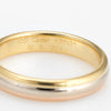 Vintage 1998 Cartier Tri Gold Ring 18k Sz 60 9 White Yellow Rose Wedding Band