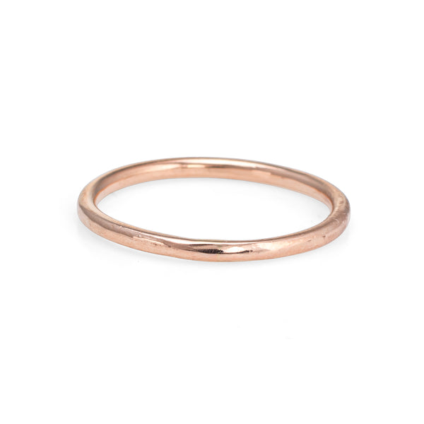 14k Rose Gold Stacking Ring Sz 7.5 Estate Fine Bridal Jewelry Wedding Band