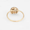 Antique Victorian Conversion Ring Diamond Pearl Crescent Moon Star 14k Gold
