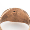 Antique Victorian Signet Ring 9k Rose Gold Sz 6.75 Vintage Fine Jewelry Old