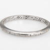 Antique Deco Wedding Band Sz 5.75 18k White Gold Ring Vintage Jewelry Bridal