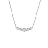 Tiffany & Co Jazz 5 Diamond Graduated Pendant Necklace Estate Fine Jewelry