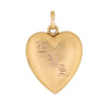 Antique Victorian Heart Locket 14k Yellow Gold Vintage Jewelry Picture Pendant
