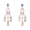 H Stern Cobblestone Earrings Amethyst Rose Quartz 18k Yellow Gold Jewelry