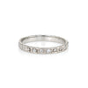 Antique Deco Diamond Ring 18k White Gold Wedding Band Sz 4.5 Pinky Vintage