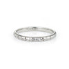 Antique Deco Belais Ring 18k White Gold Sz 7 Wedding Band Estate Fine Jewelry