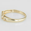 Vintage Diamond Love Script Ring 14k Yellow Gold Estate Fine Jewelry Sz 6
