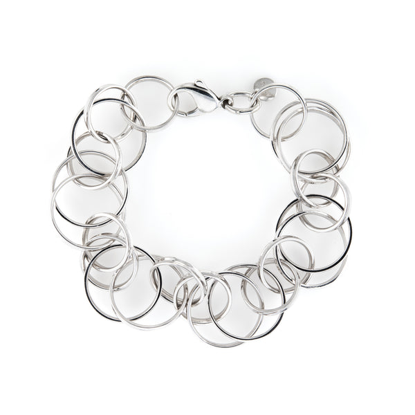 Estate Tiffany & Co Multi Circles Bracelet Sterling Silver 8