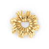 Vintage Tiffany & Co Wreath Brooch 18k Yellow Gold Italy Round 1980s Jewelry