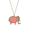 Hammerman Brothers Elephant Pendant Necklace Diamond 14k Gold Vintage Jewelry