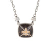 Gabriel & Co Necklace Smoky Quartz Diamond Square Cross 18k Gold SS Estate