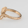 Vintage Snake Ring 9k Yellow Gold Sz 8.5 Serpent Estate Fine Jewelry Bridal