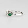 Marquise Diamond Emerald Ring Gemstone Engagement 14k White Gold Estate 4.75