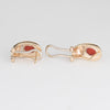 Vintage Coral Earrings 14k Yellow Gold Estate Fine Jewelry Italy Shrimp