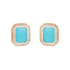 Interchangeable Earrings Turquoise Lapis Onyx 14k Yellow Gold Estate Jewelry