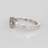 Cartier Diamond Heart Ring Sz 50 5 1/4 Estate 18k White Gold Signed Jewelry