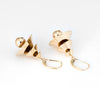 Vintage Lantern Earrings 14k Yellow Gold 1.5