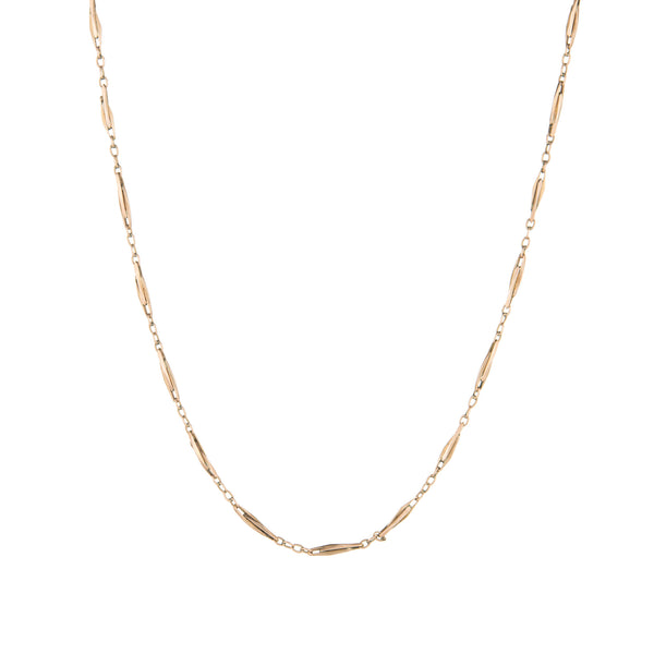 Vintage 14k Rose Gold Chain Long 25