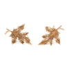 Maple Leaf Earrings Vintage 14k Yellow Gold Screw Backings Estate Fine Jewelry