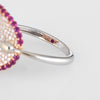 Roberto Coin Fantasia Ring Diamond Pink Sapphire Concave 18k Gold Estate Sz 6.25