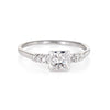 Vintage Diamond Engagement Ring 18k White Gold 0.34ct Estate Bridal Jewelry 6.25
