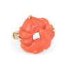 Vintage Carved Coral Ring 14k Yellow Gold Good Luck Happiness Estate Jewelry