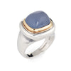 Tiffany & Co Paloma Picasso Blue Chalcedony Ring Silver 18k Gold Vintage Jewelry