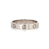 Cartier Love Wedding Band Sz 58 8 1/4 18k White Gold Pre Owned Signed Ring