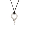 Tiffany & Co Snake Necklace Else Peretti Sterling Silver Black Cord 18