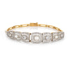 Antique Edwardian Pearl Diamond Bracelet Vintage Platinum 18k Yellow Gold Fine