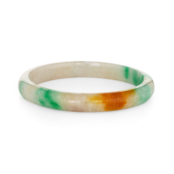 Large Jade Bangle Bracelet Vintage Fine Jewelry 2.75